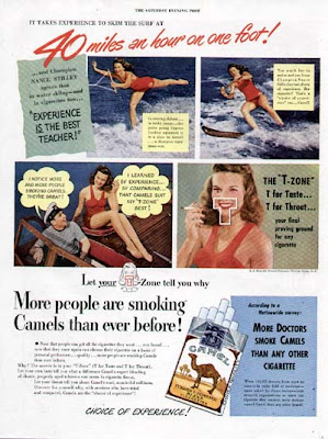 CAMEL Cigarette Ads - NANCE STILLEY Water Skiing