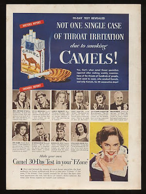 Camel Cigarette - No Throat Irritation Ad