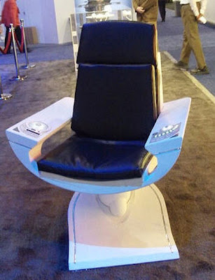 ... Chair From Star Trek (2009), Directed By J.J. Abrams, As Seen On  Display At The 2010 Consumer Electronics Show That Was Held January 7   10  At The Las ...