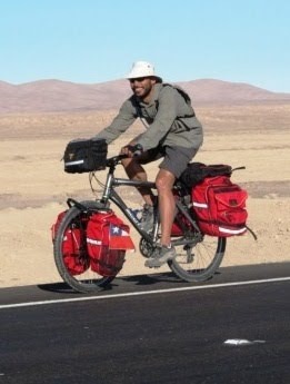 Eugene cycling the Atacama