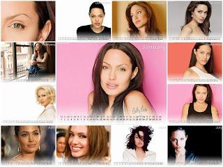 New Year 2011 Calendar, Angelina Jolie Desktop Wallpapers