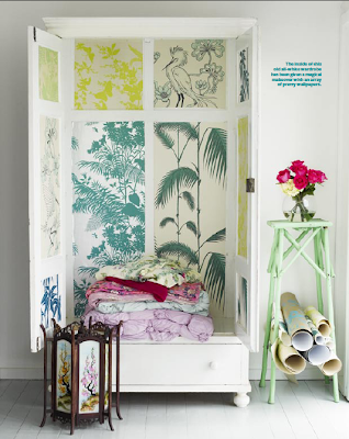 Ada and Darcy: Left over wallpaper - DIY