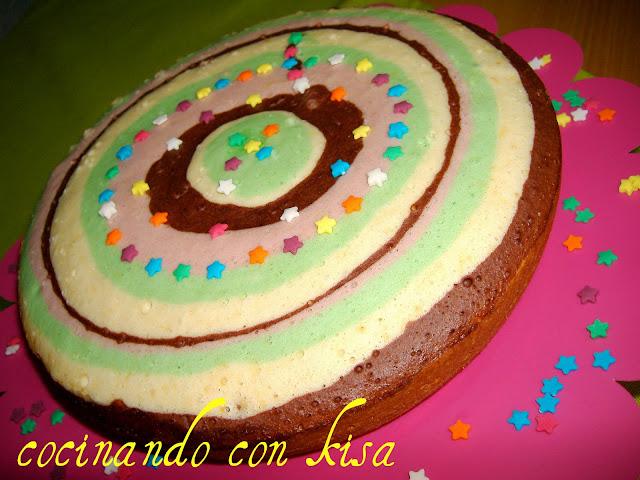 Cocinando con kisa bizcocho arcoiris fussioncook for Cocinando con kisa