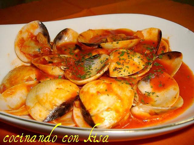 cocinando con kisa almejas en salsa de tomate fussioncook
