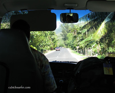 Shuttle Ride to Fare Arana, Moorea French Polynesia