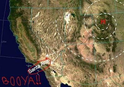 Santa Ana Winds, Southern California