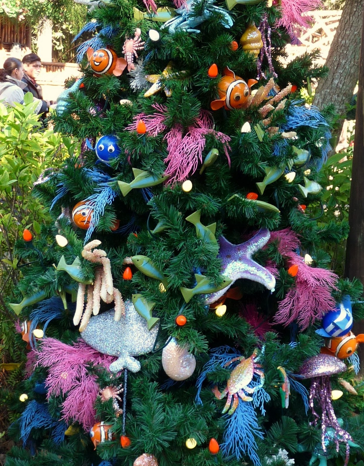finding nemo theme christmas tree disneys animal kingdom - Disney Themed Christmas Decorations