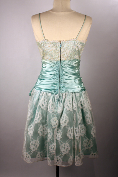 Mint Green Bridesmaid Dresses on Found This Beautiful 80s Prom Dress In Satin Mint Green At Screaming