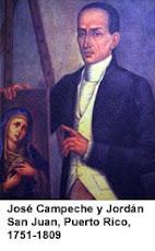 Autorretrato de José Campeche,Devoto de la Virgen de la Monserrate