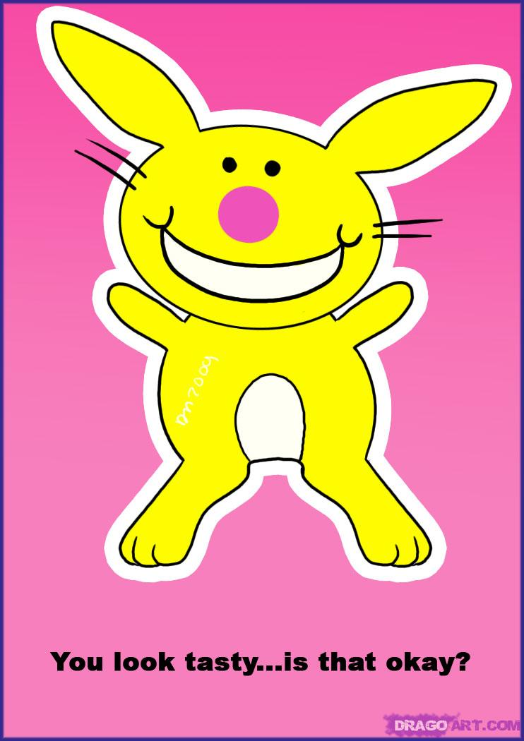 Happy Bunny Graphic #22. HTML Code for the graphic: