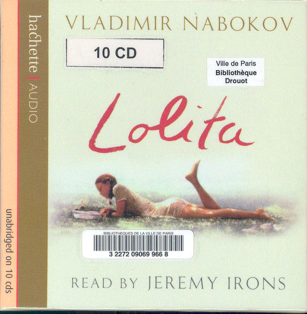 cd audio texte de dadabe 1955 vladimir nabokov lolita. Black Bedroom Furniture Sets. Home Design Ideas