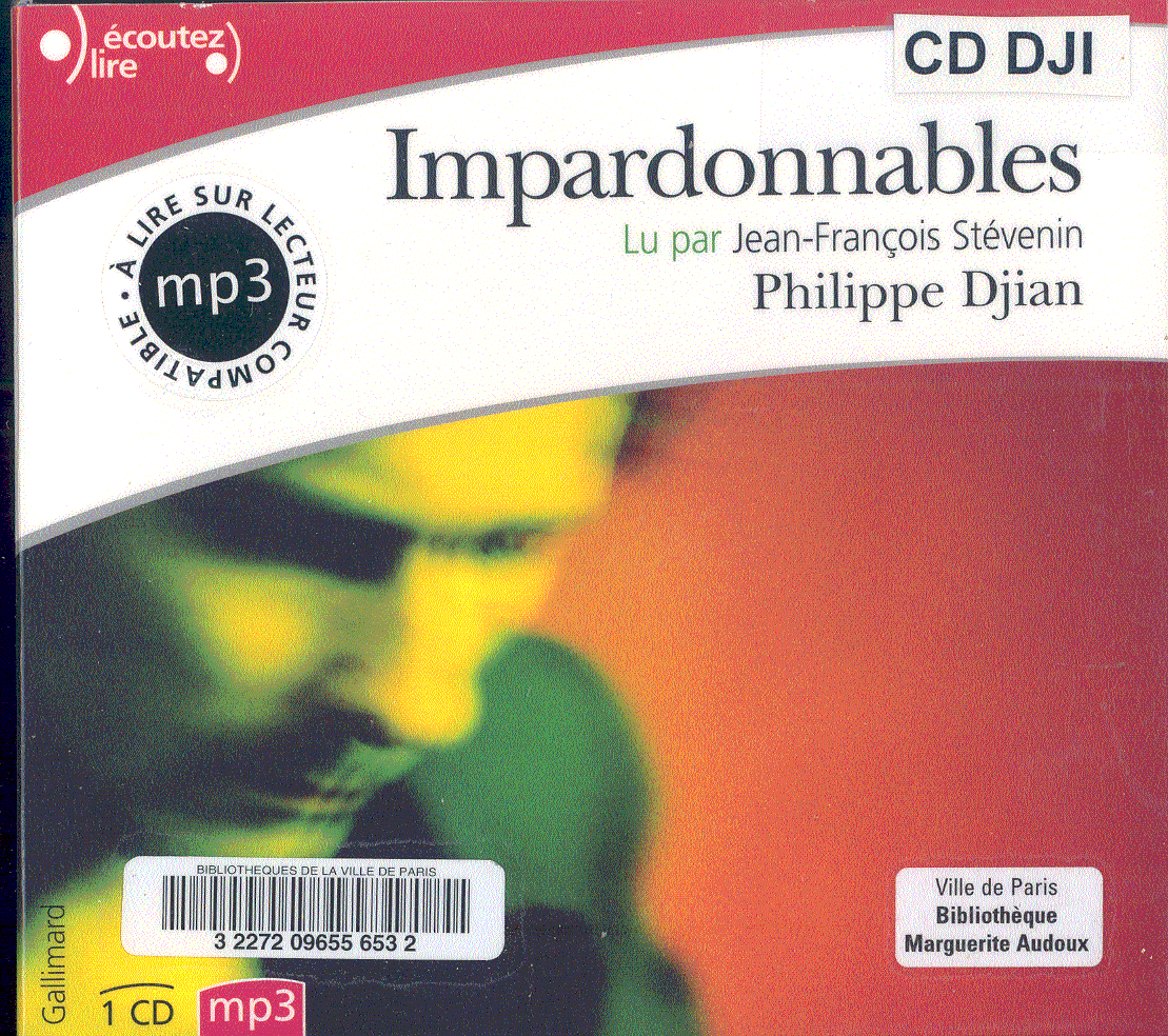 cd audio texte de dadabe 2009 philippe djian. Black Bedroom Furniture Sets. Home Design Ideas