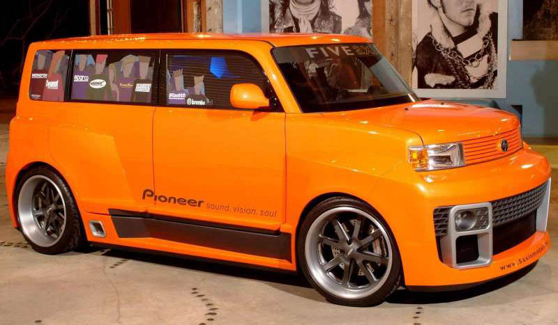Today's World of Cars: Scion 5 Axis Wide DJ xB on
