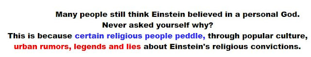 Urban legends about Einstein's God  - click