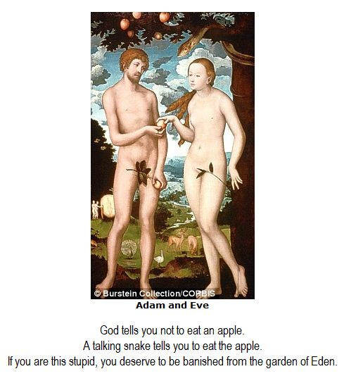 Adam, Eve and the fig leaf