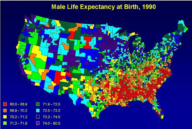 Worst female and male life expectancy is in the Bible Belt - 2