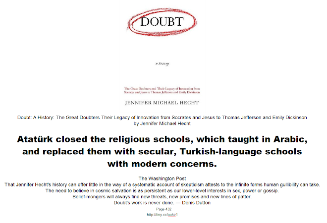 Atatürk closed the religious schools and replaced them with secular schools with modern concerns
