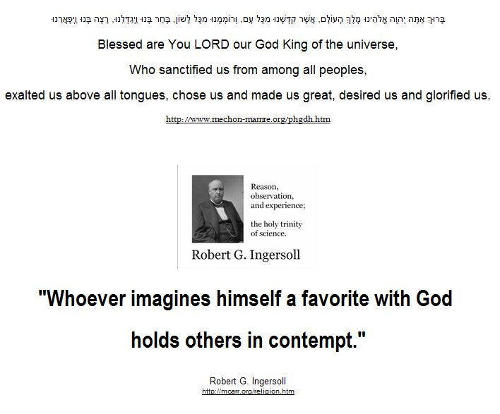 Whoever imagines himself a favorite with God