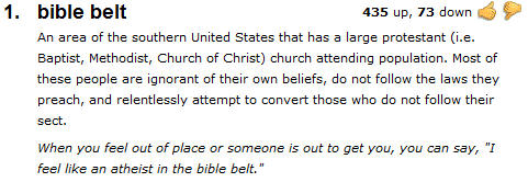 bible belt - Urban Dictionary