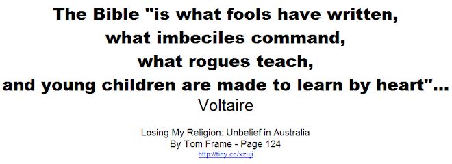 Voltaire - The Bible is what fools have written
