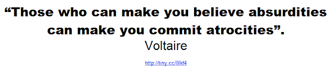 Voltaire -Those who can make you believe absurdities