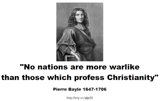 No nations are more warlike than those which profess Christianity
