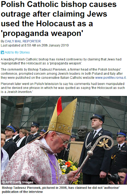 Polish Catholic bishop causes outrage after claiming Jews used the Holocaust as a propaganda weapon