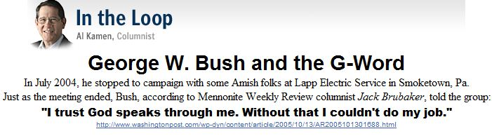 George W. Bush and the G-Word