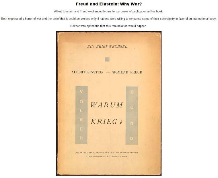 Freud and Einstein - Why War