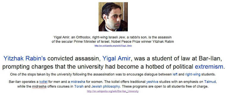 Yigal Amir, Yitzhak Rabin's convicted assassin,was a student of law at Bar-Ilan.