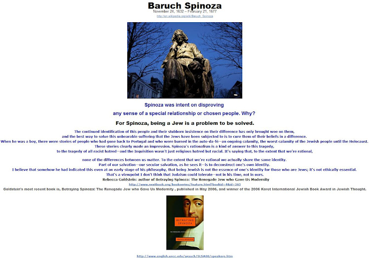 For Spinoza, being a Jew is a problem to be solved