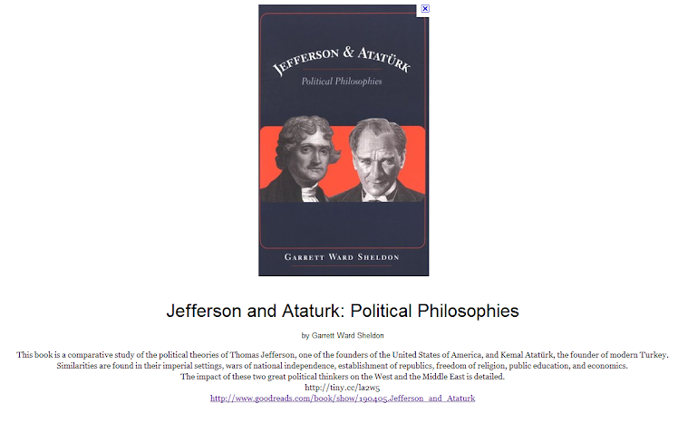 Jefferson and Ataturk - Political Philosophies - 3