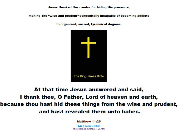 Jesus thanked the creator for hiding His presence from atheists