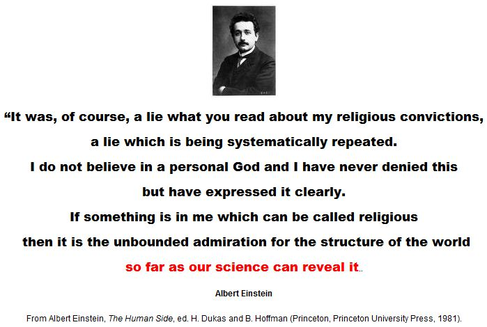 Einstein: If something is in me which can be called religious.