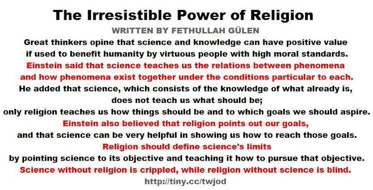 The Irresistible Power of Religion WRITTEN BY FETHULLAH GÜLEN
