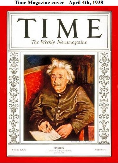 Time Magazine cover - April 4th, 1938
