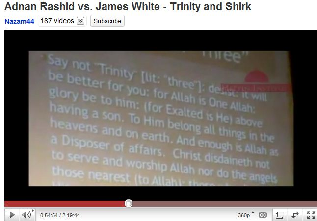 Shirk - say no three - trinity - Allah is above having a son
