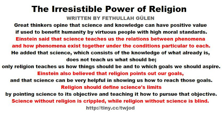 The Irresistible Power of Religion WRITTEN BY FETHULLAH GÜLEN.