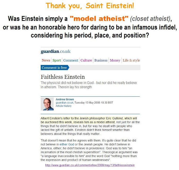 "Was Einstein -  ""a model atheist""?"