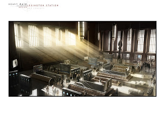 Heavy Rain Set Design Art Concept: Lexington Station