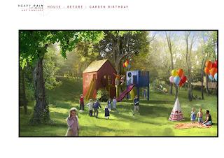 Heavy Rain Set Design Art Concept: House Before - Garden Birthday