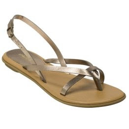 Xhilaratio​n+Tess+Str​appy+Flat+​Sandals+in​+Bronze+$1​3.49