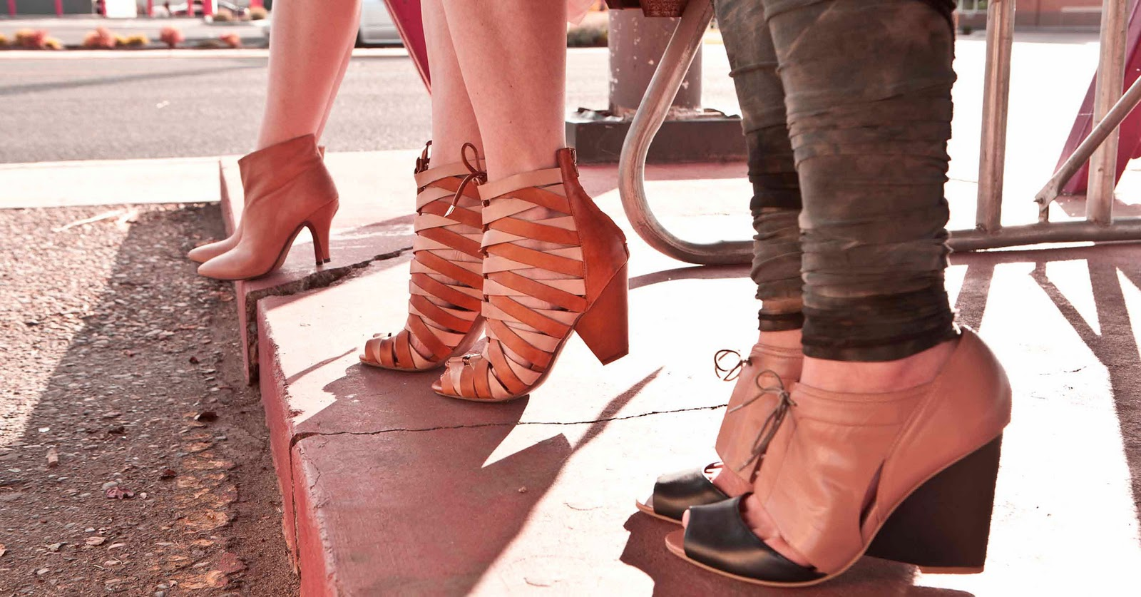 frankie in nude leather, cambria in tan natural, cashy in nude and navy ...