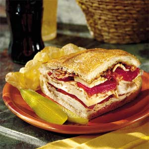 The Recipe File: Turkey, Bacon, and Havarti Sandwich