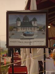 Maket Pembangnan Kembali Masjid Nurul Iman Tapi, Kotogadang