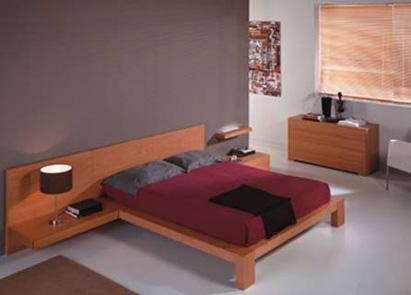 Hogar decoraci n y dise o dormitorios matrimoniales - Muebles color cerezo como pintar paredes ...