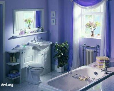 Habitación de ROsy Ba%C3%B1o+Interior+azul+monocromatico++pintomicasa+com