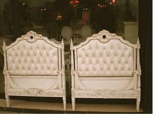Camas simples estilos luis xv xvi rococo barroco frances for Decoracion de interiores luis xv