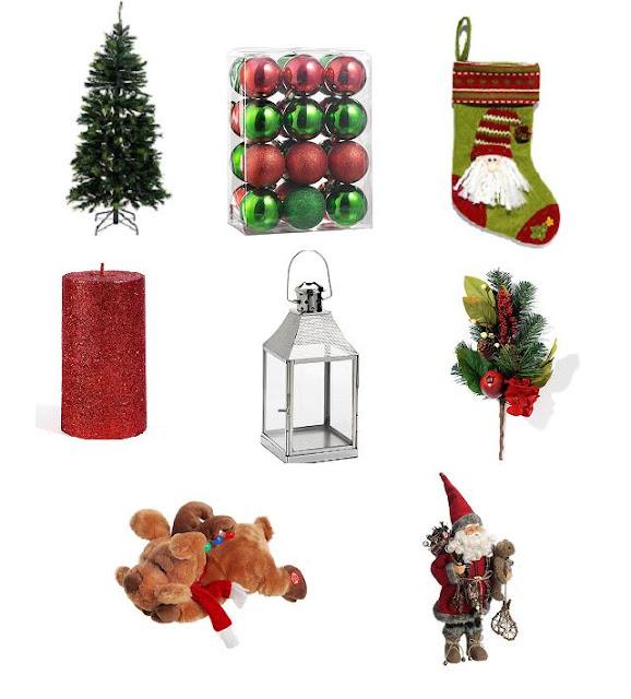 Adornos Para La Decoracion Navidad Roja Y Verde