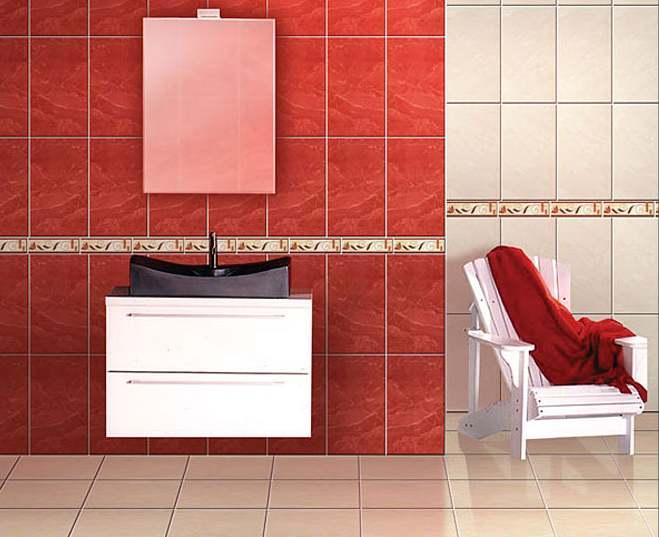 Fotos de ba os modernos marmolizados coloridos decoraci n - Combinaciones de colores de ceramicas para banos ...